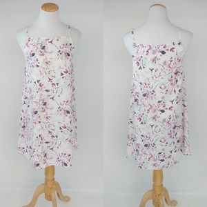 Leith White Floral Lightweight Dress Sz S